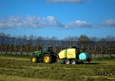 Baling with one of our Krone Comprimas