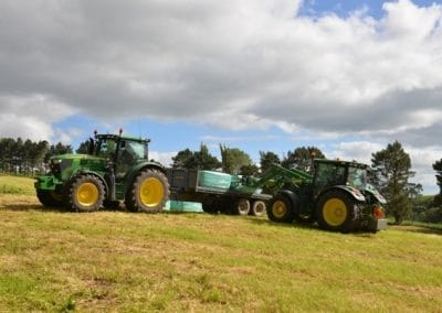 Getting bales moved on a Kaimai Range farm